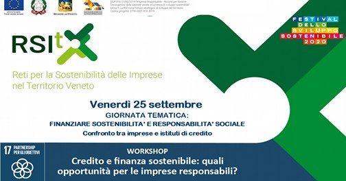Credito e finanza sostenibile: quali opportunità per le imprese responsabili?