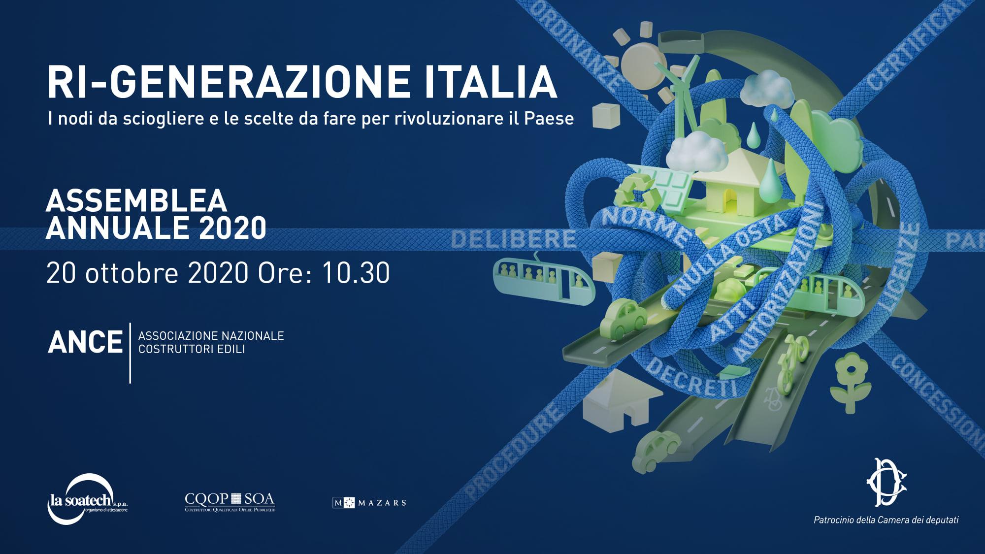 Ri-generazione Italia | Assemblea Ance 2020