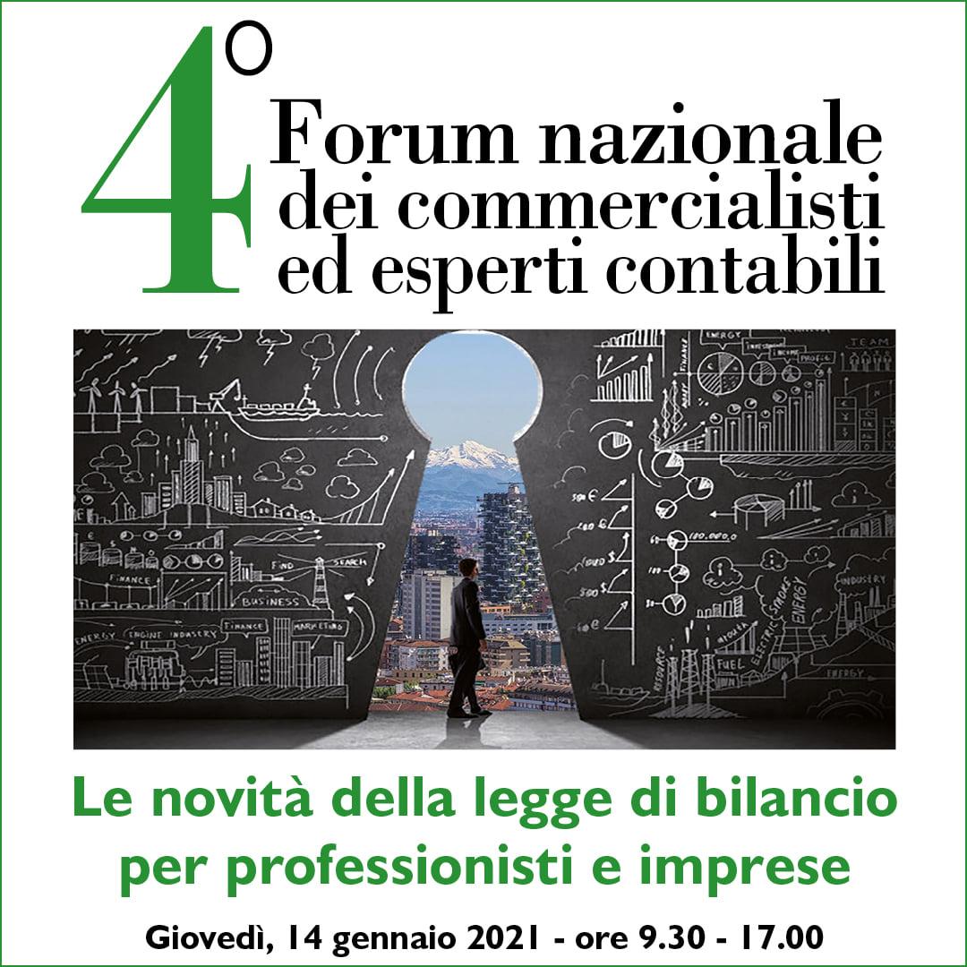 4° Forum Nazionale Dei Commercialisti Ed Esperti Contabili 2021