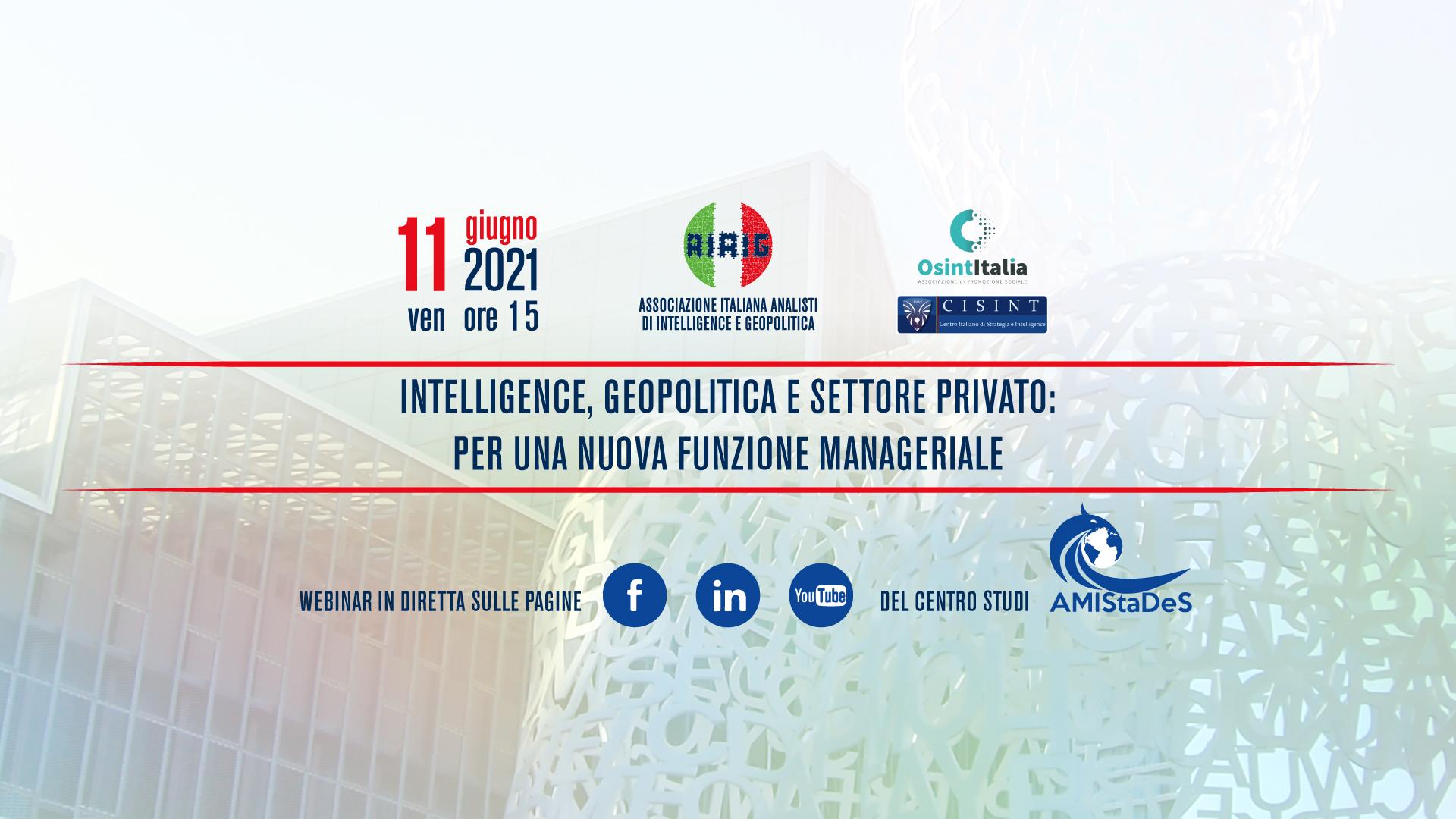 Intelligence, geopolitica e settore privato: per una nuova funzione manageriale