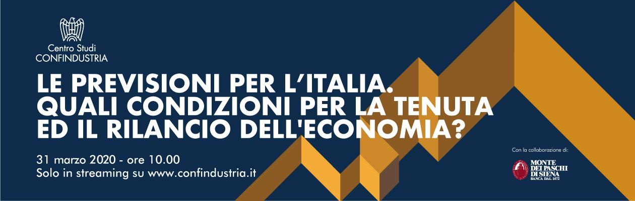 Gli scenari geoeconomici, le dinamiche europee e le previsioni per l'Italia
