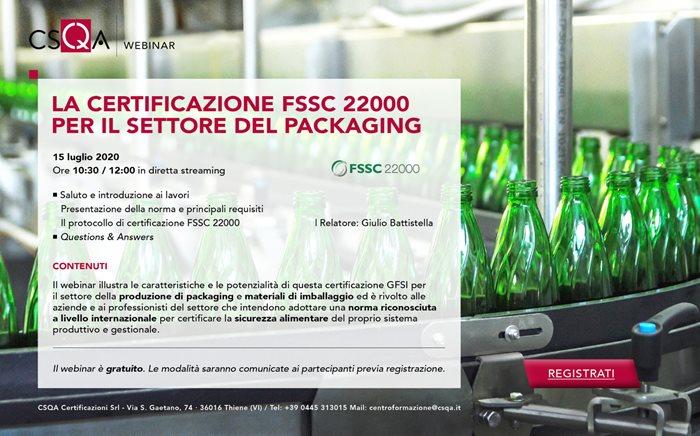 La certificazione FSSC 22000 per il settore del packaging