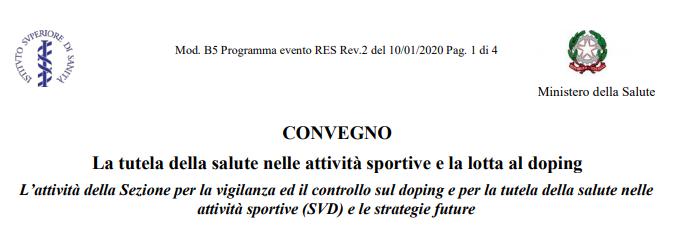 La tutela della salute nelle attività sportive e la lotta al doping