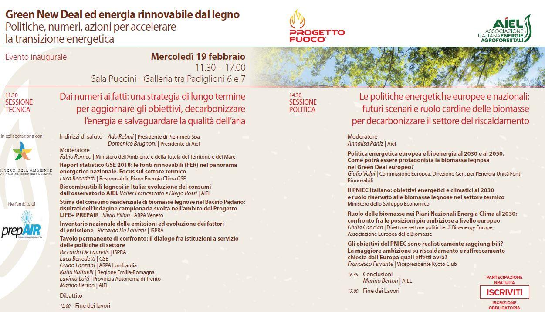 Green New Deal ed energia rinnovabile dal legno. Politiche, numeri e azioni per accelerare la transizione energetica.
