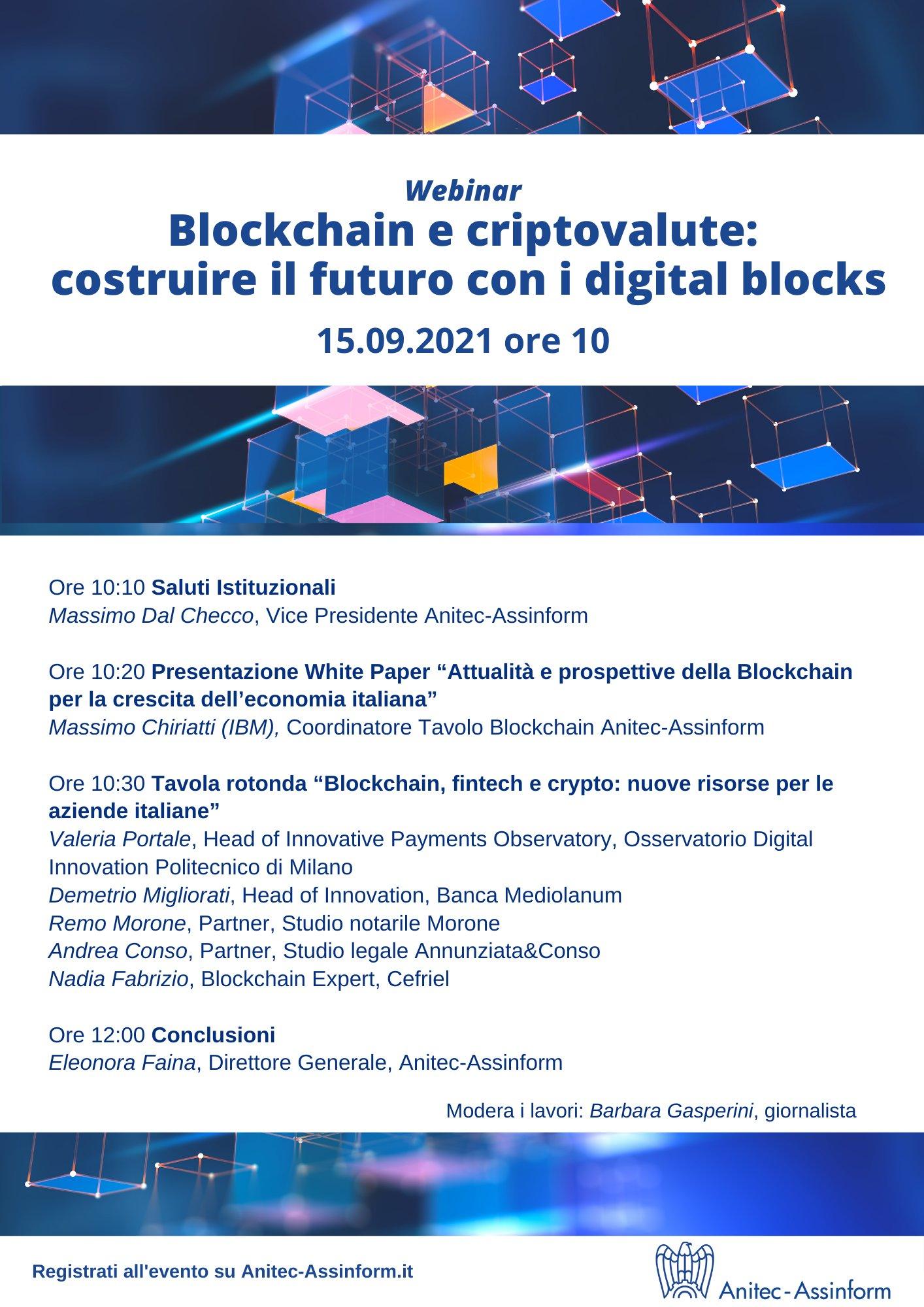 Blockchain e criptovalute: costruire il futuro con i digital blocks