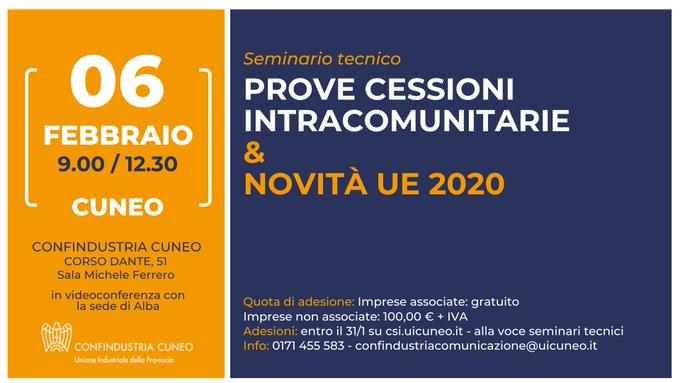 Prove di cessione intracomunitaria: novità UE 2020