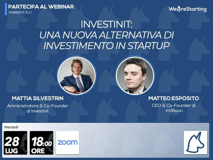 Investinit: una nuova alternativa di investimento in startup