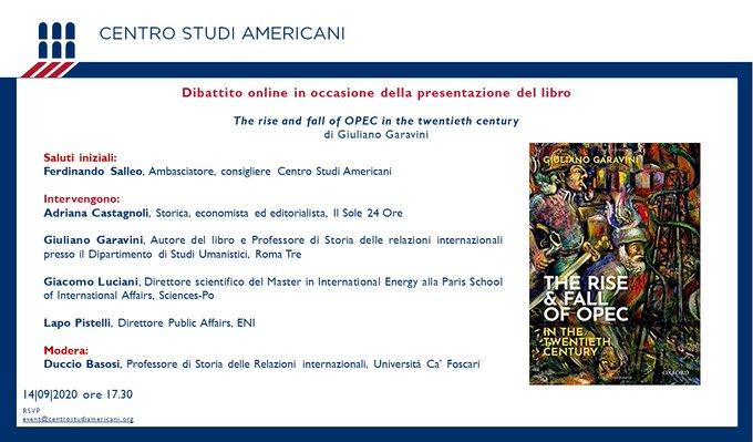 """Presentazione del libro: """"The rise and fall of OPEC in the twentieth century"""""""
