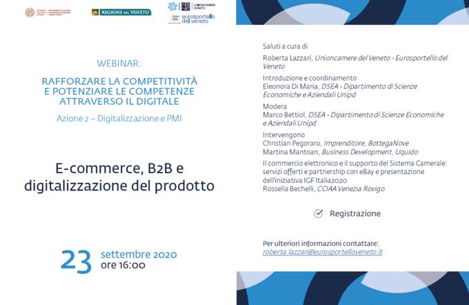 E-commerce, B2B e digitalizzazione del prodotto
