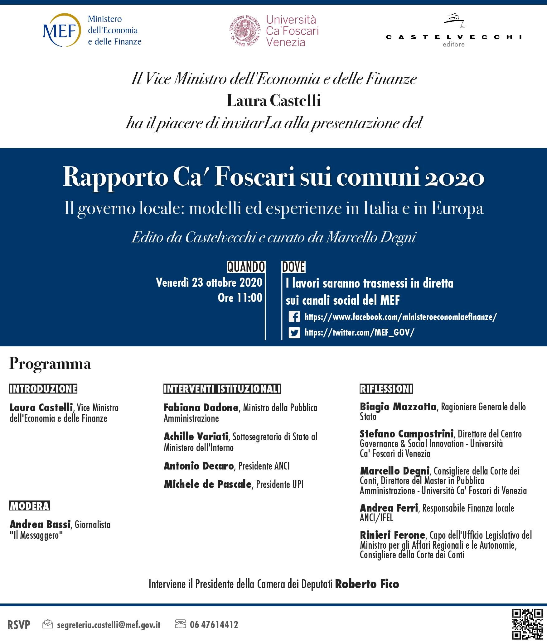 Rapporto Ca' Foscari 2020