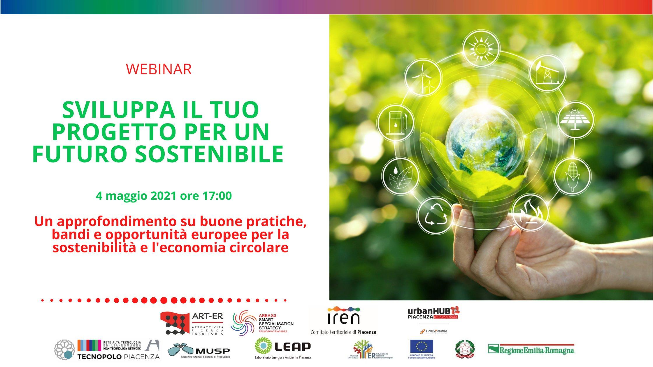 Sviluppa il tuo progetto per un futuro sostenibile