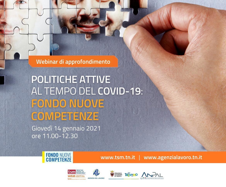 Politiche attive al tempo del COVID-19: Fondo nuove competenze