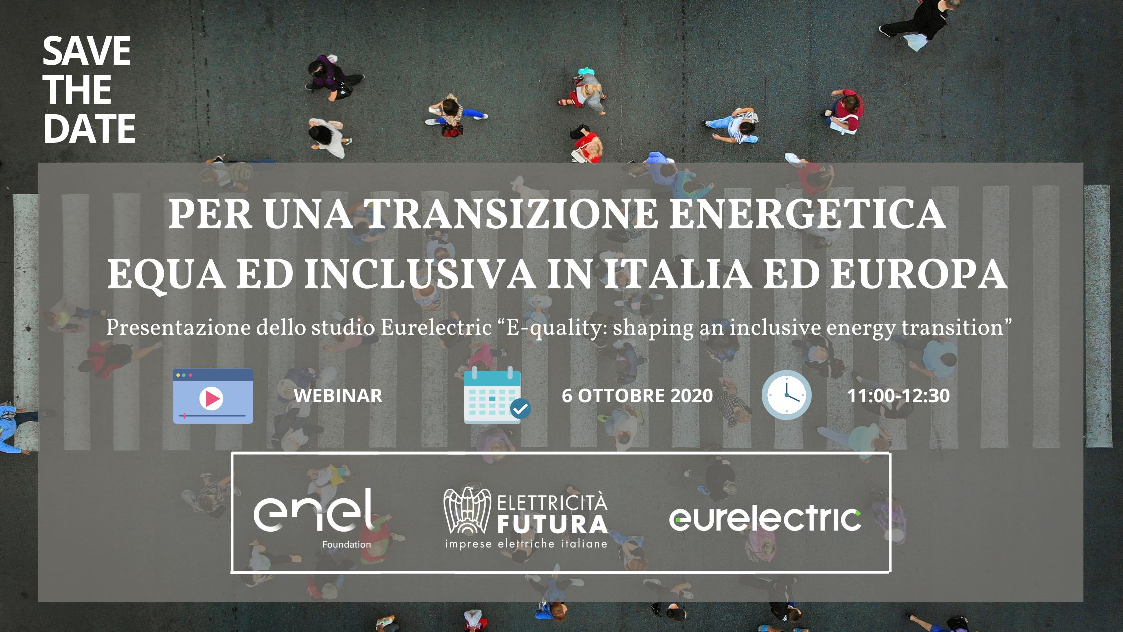 Per una transizione energetica equa ed inclusiva in Italia ed Europa