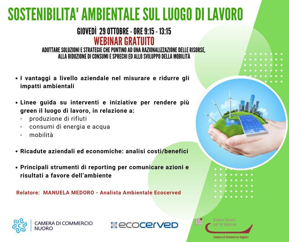 Sostenibilità ambientale sul luogo di lavoro