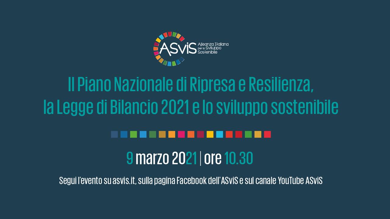Pnrr e Legge di Bilancio 2021: l'ASviS presenta l'analisi dei provvedimenti alla luce dell'Agenda 2030