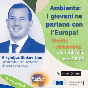 Ambiente: i giovani ne parlano con l'Europa! Dialogo con il commissario Sinkevicius