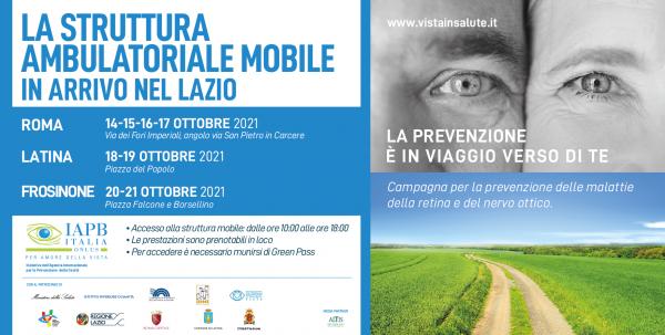 Giornata mondiale della vista, presentazione della tappa nel Lazio