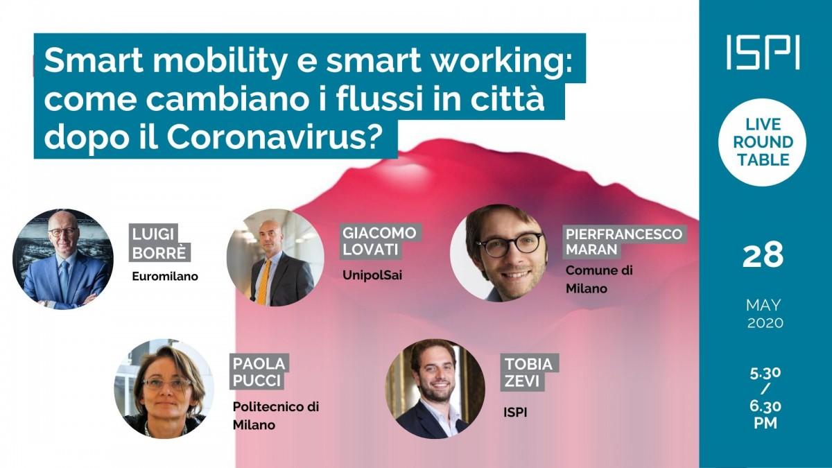 Smart mobility e smart working: come cambiano i flussi in città dopo il Coronavirus?