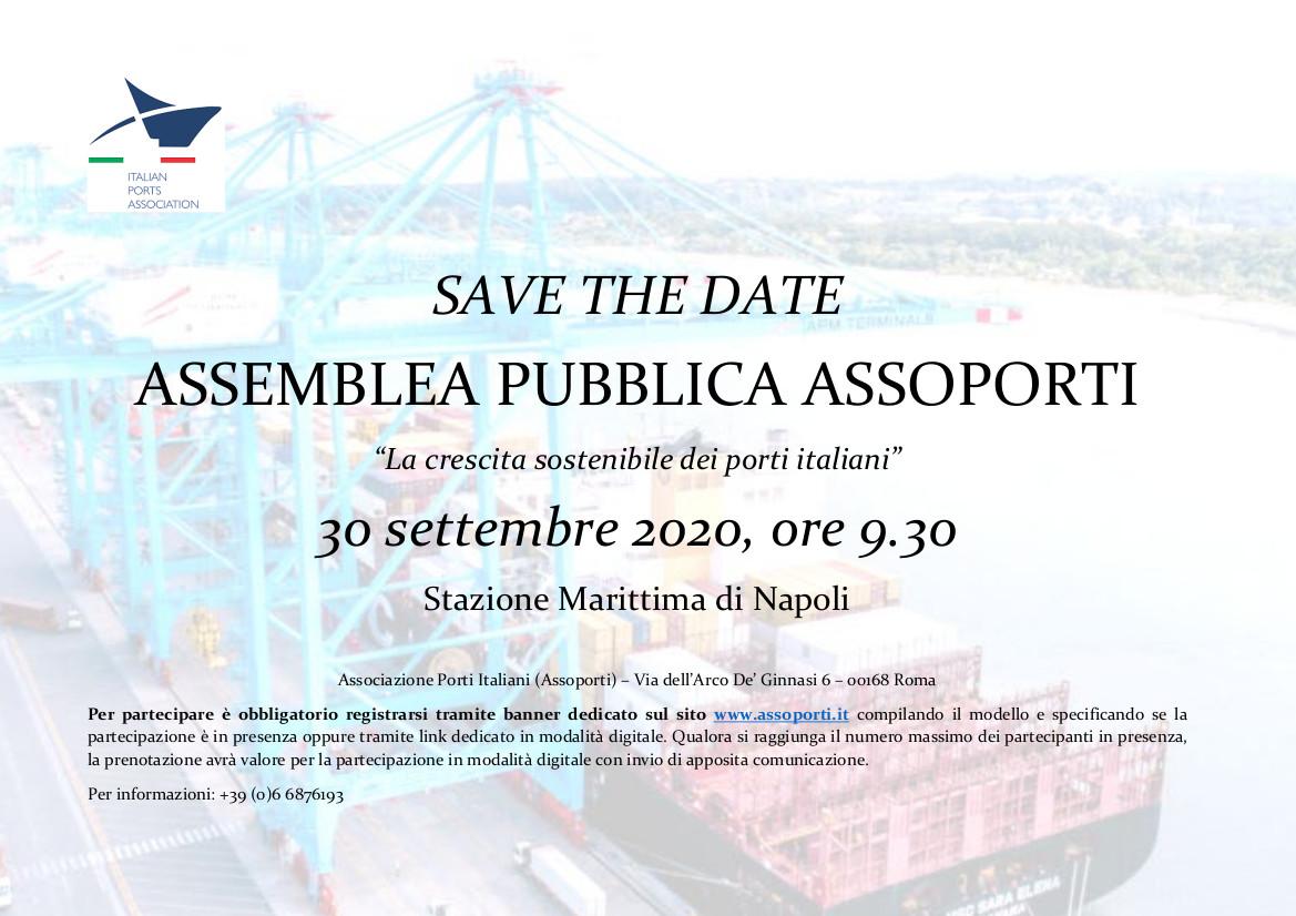 """Assemblea Assoporti: """"La crescita sostenibile dei porti italiani"""""""