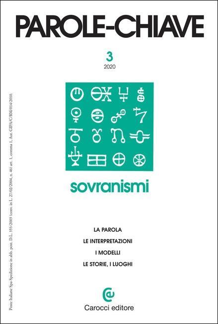 Presentazione della rivista Parole-chiave n. 3/2020:  Sovranismi