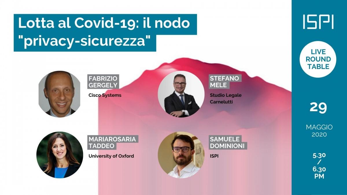 """Lotta al Covid-19: il nodo """"privacy vs sicurezza"""""""