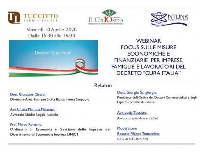 """Focus sulle misure economiche e finanziarie per imprese, famiglie e lavoratori del decreto """"Cura Italia"""""""
