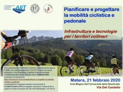 Pianificare e progettare la mobilità ciclistica e pedonale: infrastrutture e tecnologie per i territori collinari