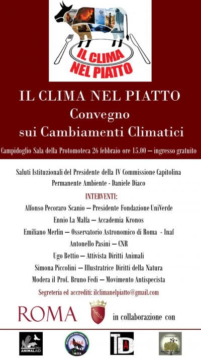 Il clima nel piatto: convegno sui cambiamenti climatici