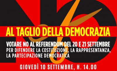 No al taglio della democrazia