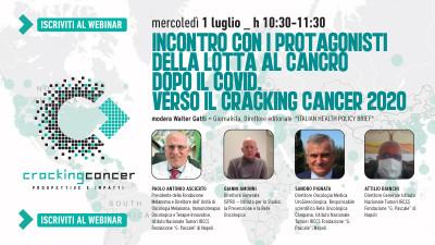 Incontro con i protagonisti della lotta al cancro dopo il Covid. Verso il cracking cancer 2020