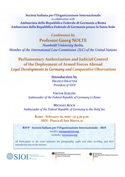 Parliamentary Authorization and Judicial Control of the Deployment of Armed Forces Abroad
