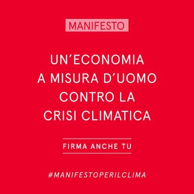Crisi climatica - Manifesto per un