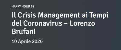 Il Crisis Management ai Tempi del Coronavirus