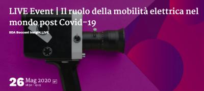 Il ruolo della mobilità elettrica nel mondo post Covid-19