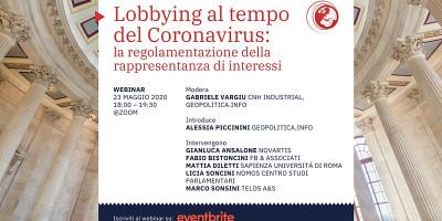 Lobbying al tempo del Coronavirus: la regolamentazione della rappresentanza di interessi