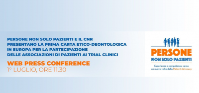 Presentazione della Carta etico-deontologica in Europa per la partecipazione delle Associazioni di pazienti ai trial clinici