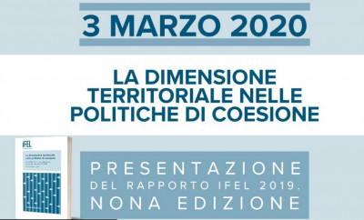 La dimensione territoriale nelle politiche di coesione. Presentazione del Rapporto IFEL 2019