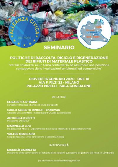 Politiche di raccolta, riciclo e rigenerazione dei rifiuti di materiale plastico