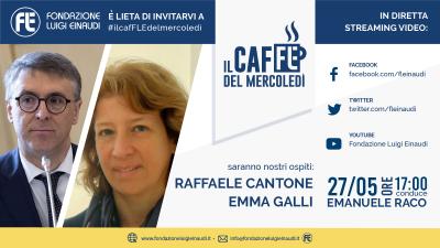 Il Caffè del Mercoledì con Raffaele Cantone e Emma Galli