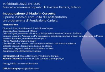 Inaugurazione Made in Corvetto