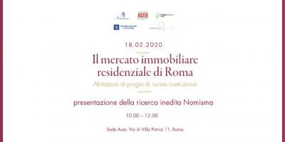 Il mercato immobiliare residenziale di Roma – Abitazioni di pregio di nuova costruzione