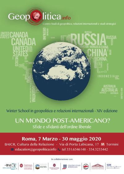 XIV Winter School  - Un mondo post-americano? Sfide e sfidanti dell'ordine liberale