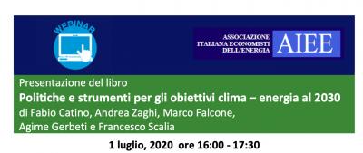 """Presentazione del libro: """"Politiche e strumenti per gli obiettivi clima – energia al 2030"""""""