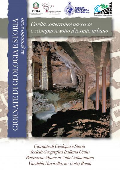 Terza giornata di Geologia e Storia: Cavità sotterranee nascoste o scomparse sotto il tessuto urbano
