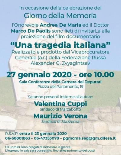 """Proiezione del documentario """"Una tragedia italiana"""""""