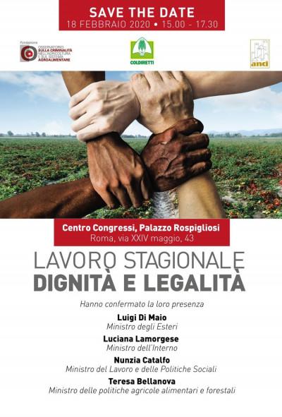 Lavoro stagionale, dignità e legalità