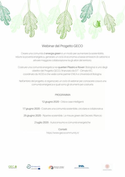 Progetto GECO: Autoconsumo e comunità energetiche
