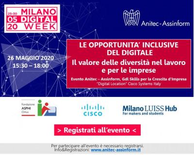 Le opportunita' inclusive del digitale. Il valore delle diversità nel lavoro e per le imprese